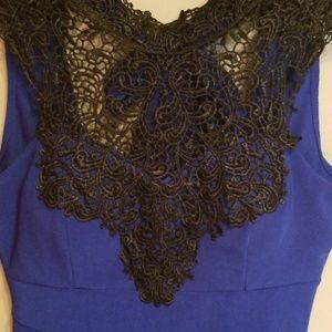 Windsor royal blue mini dress